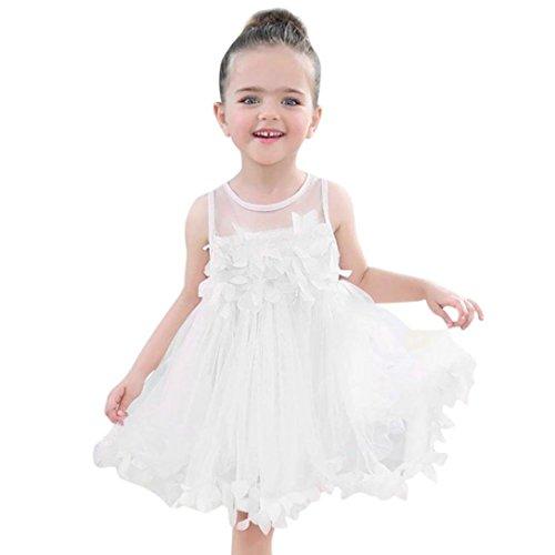 squarex bébé d'été Filles Vêtements Applique Robe de princesse enfants Tutu en maille filet Vêtements, Enfant, blanc, 6-12 mois