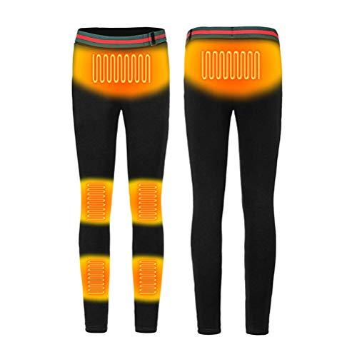 Newmere USB beheizte Hosen Frauen wiederaufladbare isolierte Hosen Slim Fit beheizte Baselayer-Hosen