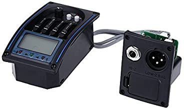 Acoustic Guitar 4-Band EQ Equalizer System Acoustic Guitar Preamp Piezo Pickup LCD Screen Tuner