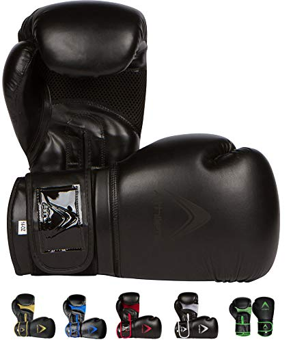 Athllete Training Boxing Gloves Black/Black 16 oz