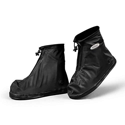 YMTECH Regenüberschuhe Wasserdicht Schuhe 1 Paar, Outdoor Rutschfester Radsportschuhe Überschuhe (38 – 39 EU) - 4
