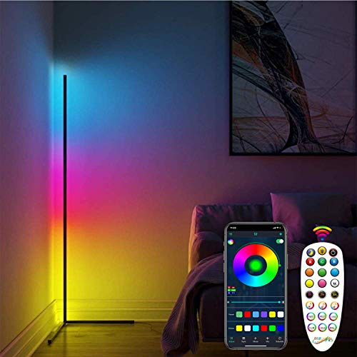 Corner Floor Lamp RGB Color Changing Standing Lamps Dimmable...