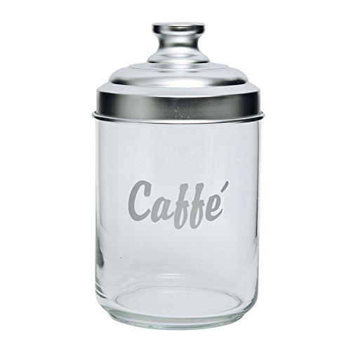 Excelsa Dose Kaffee, aus Glas, transparent/Aluminium