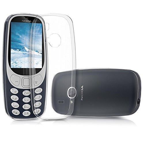 kwmobile Nokia 3310 (2017) Cover - Custodia per Nokia 3310 (2017) in Silicone TPU - Back Case Protezione Posteriore Trasparente