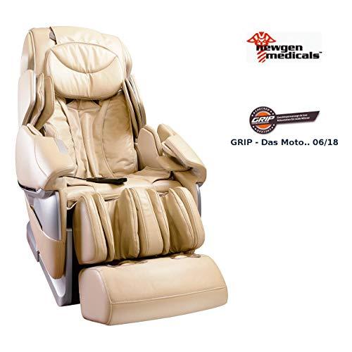 Newgen Medicals Massagesessel: Ganzkörper-Massagesessel GMS-300.bt mit Bluetooth, beige (Massagesessel Premium)