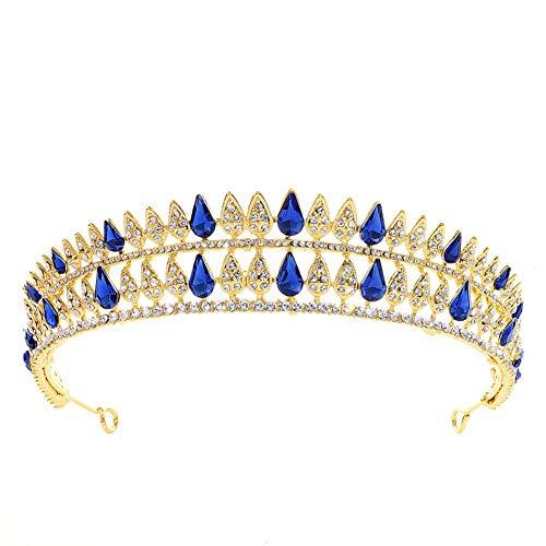 Demarkt Tiara - Diadema con perlas brillantes para novia, boda, boda, boda,...