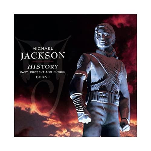 Michael Jackson HIStory Poster sur toile pour décoration de salon, chambre à coucher, 70 × 70 cm, sans cadre