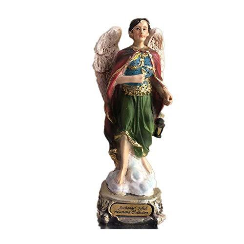 QIBAJIU Skulpturen Gartenstatuen Statue Antike Laterne Engel Kunst Skulptur Dekoration Engel Flügel Figur Statue Harz Home Dekoration