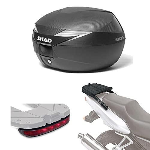 Sh39luhe179 - Kit fijacion y Maleta baul Trasero + luz de Freno Regalo sh39 Compatible con BMW c650 Sport 2012-2017 BMW c600 Sport 2012-2014
