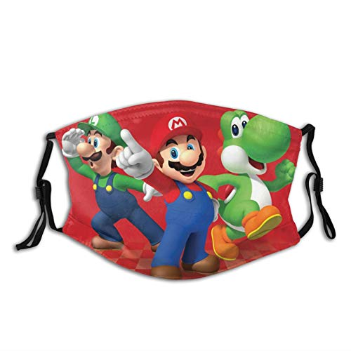 Super Mario Cartoon Face Mask Fashion Bandana Shield for Boy Girl Kids Dust Outdoors Sports with Protective Filters