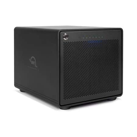 OWC ThunderBay 6 RAID Ready 6-Bay External Storage Enclosure with Dual Thunderbolt 3 Ports, Featuring SoftRAID XT, Thunderbolt 3 Cable Included, (OWCTB36SRKIT0)