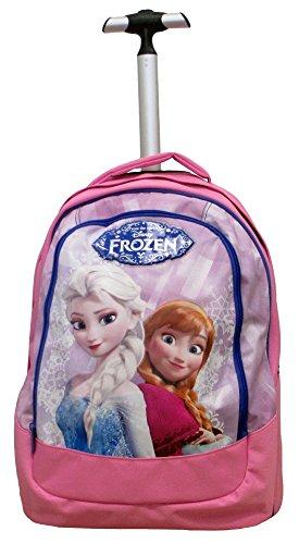 Frozen - Magia Del Ghiaccio Trolley Scuola Bambina, Spallacci a Scomparsa, 30 Litri, Rosa