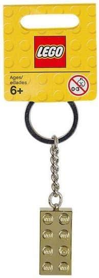 Lego Gold 2x4 Stud Key Chain