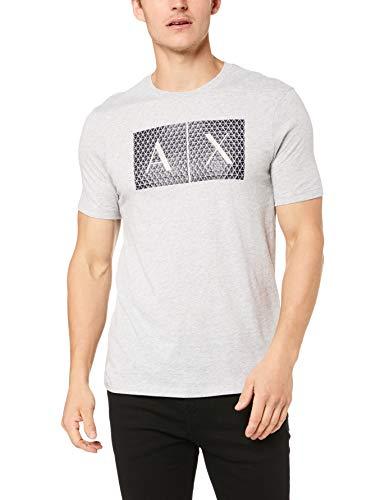 Armani Exchange Herren 8NZTCK T-Shirt, Grau (B09B Htr Grey 3929), Small