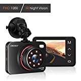 TryAce Dash Cam 1080P FHD DVR Car Driving Recorder Supper Night Vision Dashcam 2.7' LCD Screen 170°Wide Angle, G-Sensor, WDR, Parking Monitor, Loop Recording, Motion Detection