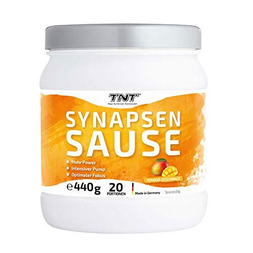 Synapsensause   Trainingsbooster   Pre-Workout-Booster   Mit Guarana und Tyrosin   440g - 20 Portionen   Mango-Geschmack