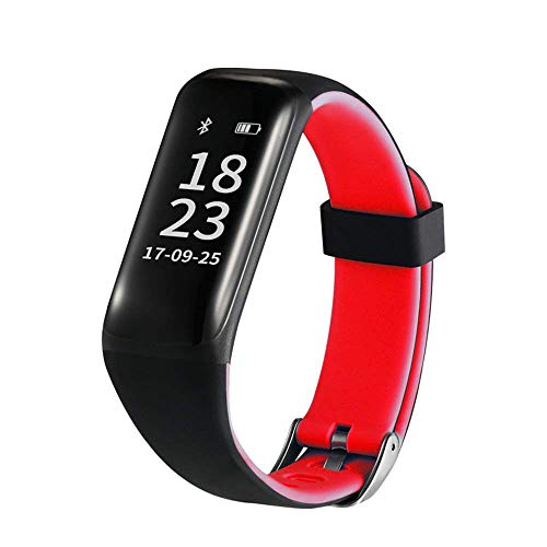 Why Should You Buy pedometer Fitness Tracker, Activity Wristband, Large Screen Bracelet, Watch, Blood Pressure Sleep Monitoring, Waterproof, Android iOS Smartphones (Color : Red)