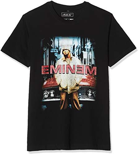 Mister Tee Herren Eminem Retro Car Tee T-Shirt, Schwarz (Black 00007), Small (Herstellergröße: S)