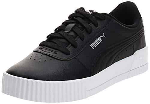 PUMA Damen Carina L Sneaker, Blackwhite Silver, 40.5 EU