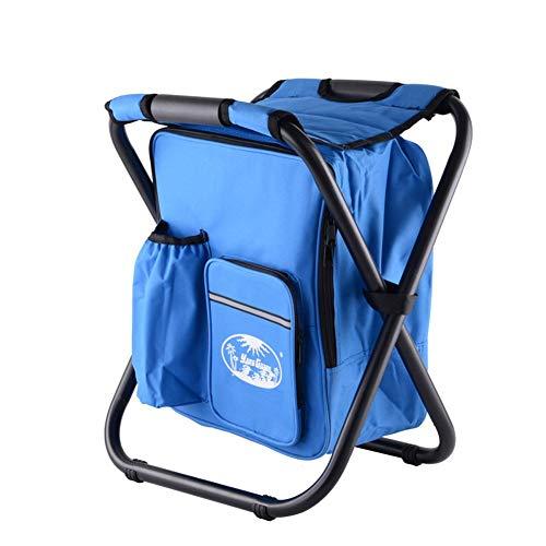 Chaise ultralégère de refroidisseur de sac à dos - Tabouret pliant compact et léger, portable - Parfait pour les événements, la plage, la randonnée, la pêche