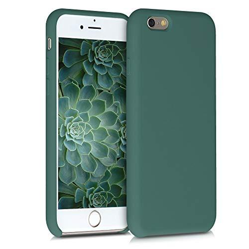 kwmobile Hülle kompatibel mit Apple iPhone 6 / 6S - Handyhülle gummiert - Handy Case in Blaugrün