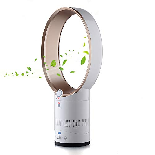 Bcamelys Cooling Fan, Leafless Silent Fan, Oscillating Tower Fan with Remote Control,Air Circulator with Sleep-Timer Funktion for Home, Office, Bedroom.