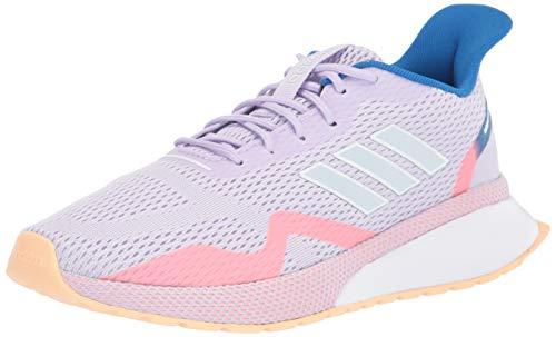 adidas Women's NOVAFVSE X Running Shoe, Purple Tint/Sky Tint/Glow Orange, 5.5 M US