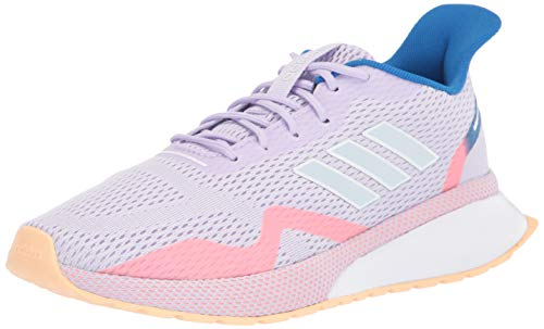 adidas Women's NOVAFVSE X Running Shoe, Purple Tint/Sky Tint/Glow Orange, 5.5 M US