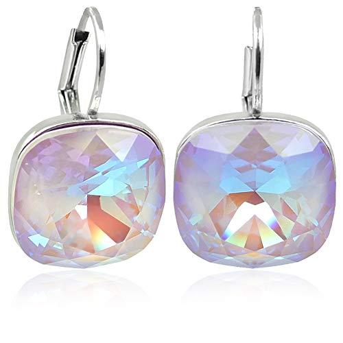 Ohrringe Silber Violett mit Kristalle von Swarovski® NOBEL SCHMUCK