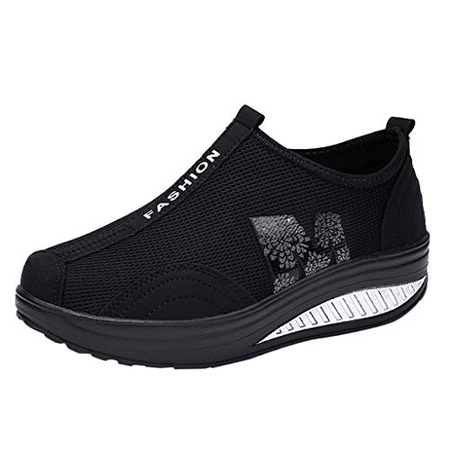 MRULIC Damen Fitness Laufschuhe Sportschuhe Schnüren Running Sneaker Netz Gym Schuhe Trendige Schnür Sport Turnschuhe Flex Appeal Outdoor Trainers Mit Schnürung