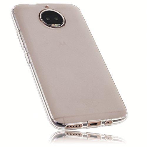 mumbi Hülle kompatibel mit Motorola Moto G5S Plus Handy Hülle Handyhülle, transparent weiss