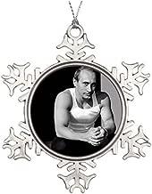 Blafitance Christmas Snowflake Ornaments, Vladimir Putin Metal Garden Snowflake Ornaments Bedroom Snowflake Ornaments