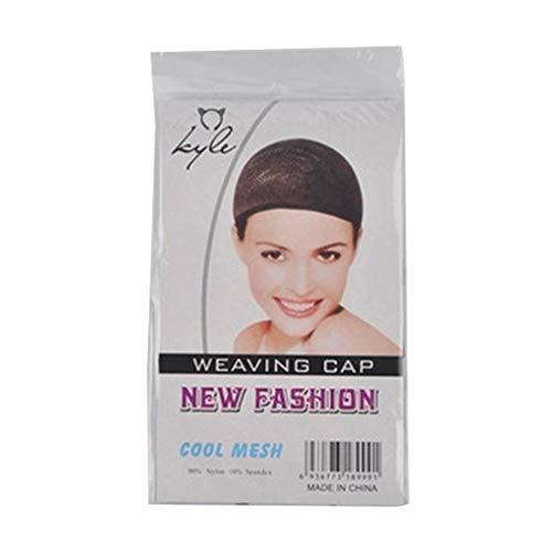 NAYUKY Résille élastique Cap Perruque Coiffure Invisible en Nylon Hairnet Femmes Perruque Tissage Maille