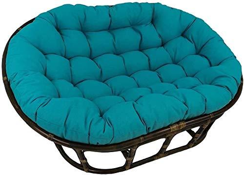 HLZY Cojines para exteriores para sillas de patio, cojines gruesos para sillas de patio, cojines para silla de 2 personas (color: azul cielo)