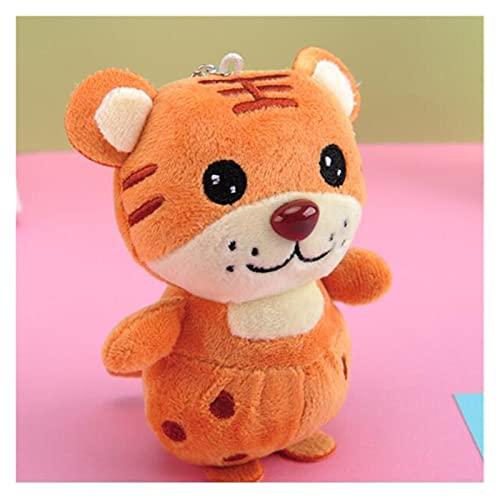 WWWL Muñeca de Trapo, Tiger Año Mascot Dibujos Animados Linternidad Tigre Peluche Tigs Llavero Llavero Muñeca Muñeca Colgante Ragdoll for Noticias Regalos (Color : Orange)