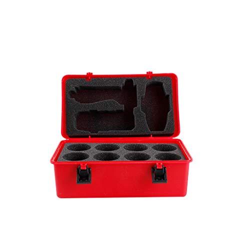Luccase Battle Spinners Aufbewahrungsbox 23.5 x 14 x 12cm Rot Tragbarer Wasserfeste Schutzart IP Aufbewahrungskoffer für 8-in-1-Kartenspiele