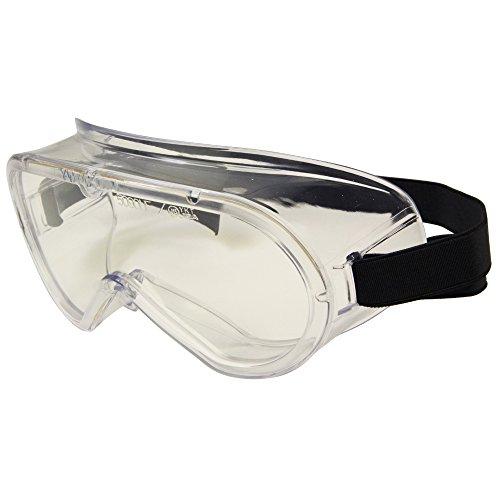 SK11 眼鏡の上からかけられる 無気孔タイプ 曇り止加工 セフティグラス DG-13N