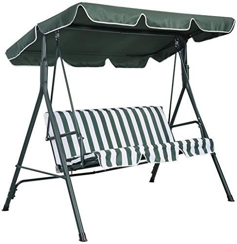 LINGKY Canopy De Remplacement pour Siège De Balançoire 2 Et 3 Places Tailles Hamac Cover Top Garden Outdoor (114x164x15cm,Vert)