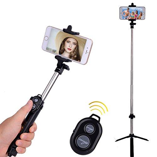 artmark Wireless Bluetooth Selfie Stick con mini treppiede, pieghevole allungabile Selfie Stick monopiede telecomando per iPhone 6s/6/6Plus e altri smartphone