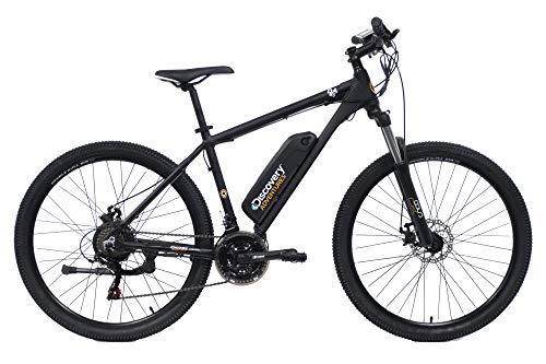 Discovery E3000, Bicicletta a pedalata assisita, Mountain Bike con Ruote da 27,5', Forcella Ammortizzata, Freni a Disco Meccanici Unisex Adulto, Nero Opaco, 27.5