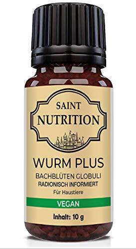 Saint Nutrition® Veganes Wurm Globuli - für Tiere - DIE Wurmkur Alternative für Hunde + Katzen, natürliche Ernährung für Hund & Katz