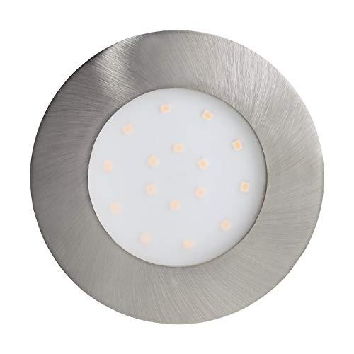 Preisvergleich Produktbild EGLO LED Einbauleuchte Pineda-IP,  Einbaulampe aus Kunststoff,  Farbe: Nickel-matt,  Ø: 10, 2 cm,  IP44