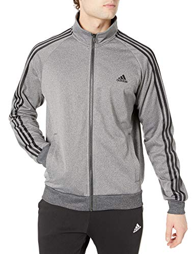 Adidas Men 's Essentials 3 Rayas Tricot Chamarra de Pista para Hombre, Collegiate Azul Marino/Blanco, Mediano