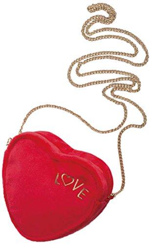 Nici - pluche handtas in hartvorm, met ritssluiting (41007)