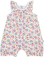 100% Organic Cotton Floral Short Romper Jumpsuit, GOTS (9-12 Months)