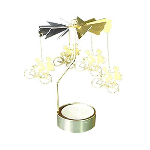 Hniunew Valentinstag Dekoration Kerzenhalter Romantik Metall Kerzenständer Rotierendes Teelicht Party Laterne Kerzenteller Adventskerzenhalter Tischdekoration