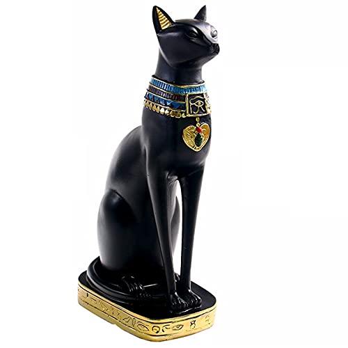Wobekuy Figura de resina de gato egipcio, diseño de anime de diosa egipcia, estatua...
