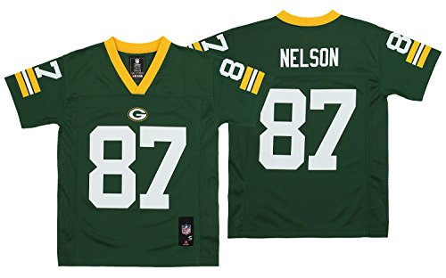 Outerstuff NFL Youth Boys (8-20) Green Bay Packers Jordy Nelson Team Color Player Jersey, Green (X-Large 20)