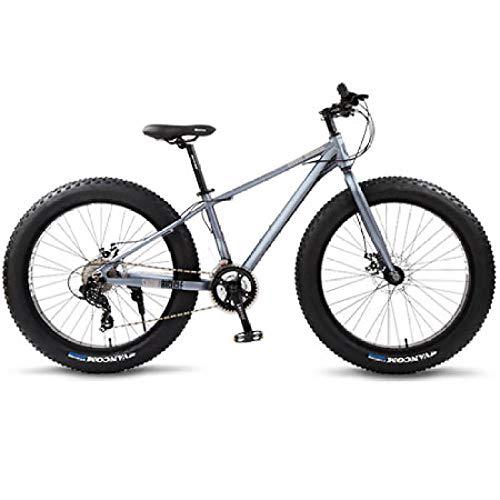 Bicicleta de montaña Fat de carreras, de aluminio, 26 velocidades, neumáticos de 24 velocidades, color gris, negro, 24 velocidades, China