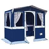 Hosa - Tienda Cocina de Camping Florida 250 X 150 cm - con Ventanas, Hecha en PVC Trevira